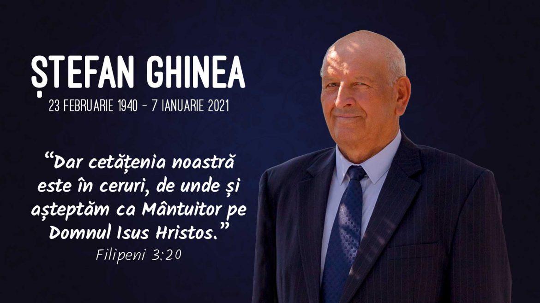 In Memoriam – Ștefan Ghinea